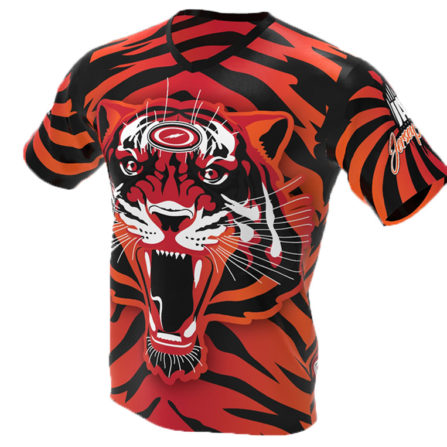 tiger bowling jersey - storm - jersey alley