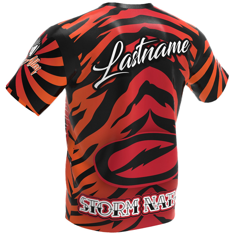 tiger bowling jersey - back - storm - jersey alley