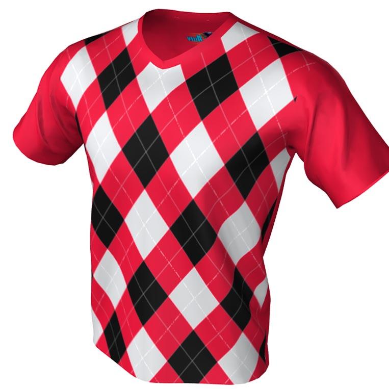 argyle pattern - v neck bowling jersey