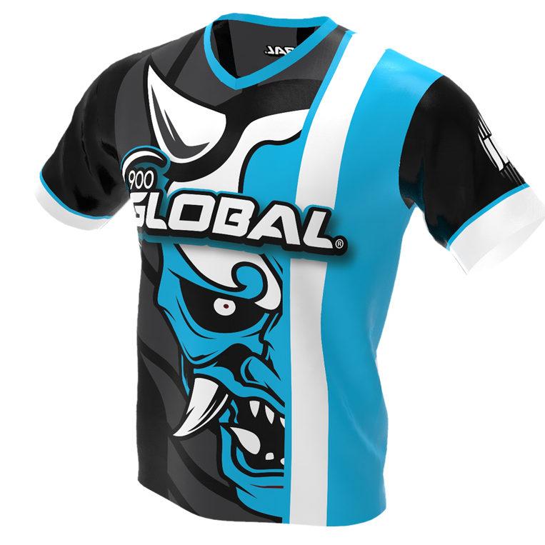 900 Global - Hannya Demon Bowling Jersey - Jersey Alley Blue