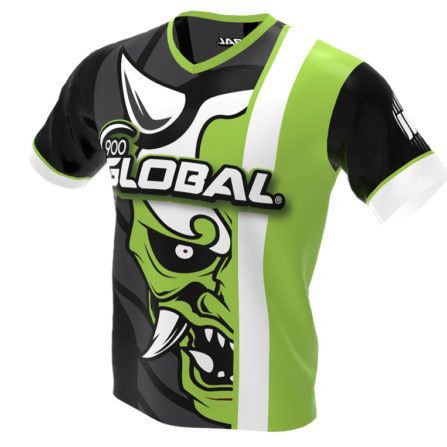 900 Global - Hannya Demon Bowling Jersey - Jersey Alley Green