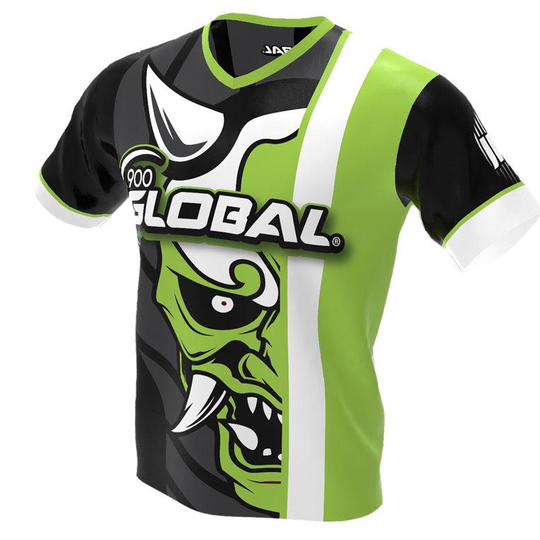 900 Global - Hannya Demon Bowling Jersey - Jersey Alley Green