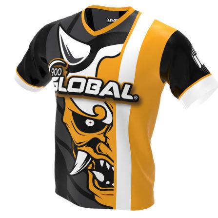 900 Global - Hannya Demon Bowling Jersey - Jersey Alley Yellow