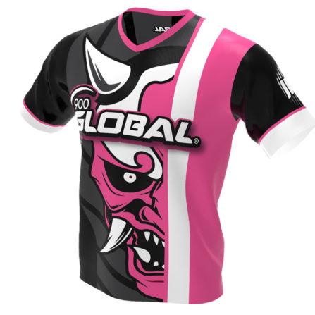 900 Global - Hannya Demon Bowling Jersey - Jersey Alley Pink