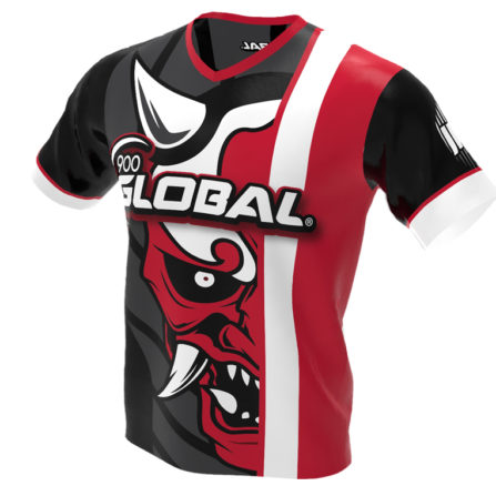 900 Global - Hannya Demon Bowling Jersey - Jersey Alley Red