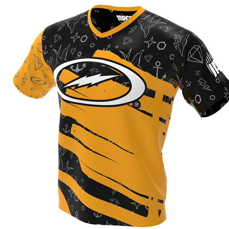 The Punk Kid - Storm Bowling Jersey - Black and Gold