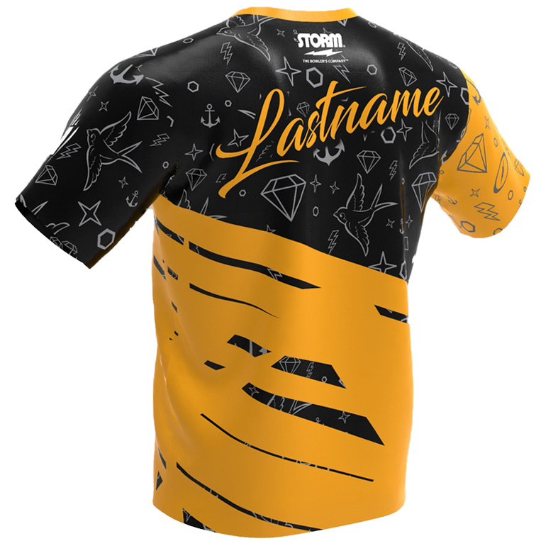 The Punk Kid - Storm Bowling Jersey Black and gold Back