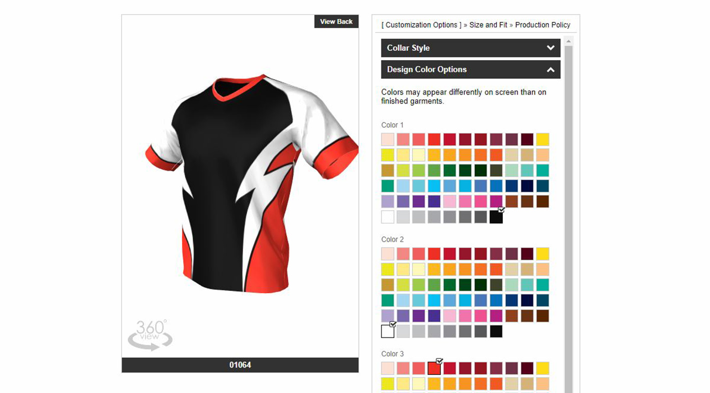 Jersey Alley - Customization User Interface