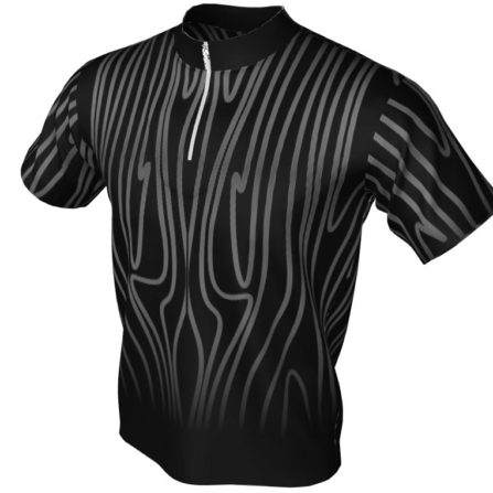 against the grain - bowling jersey black