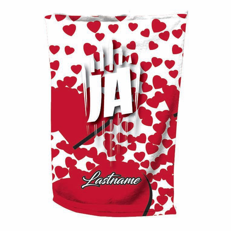 valentines day bowling towel - Jersey Alley