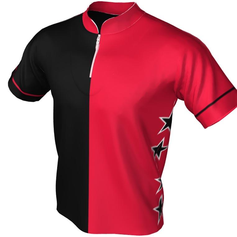 two tone - split star pattern - Mandarin zip jersey