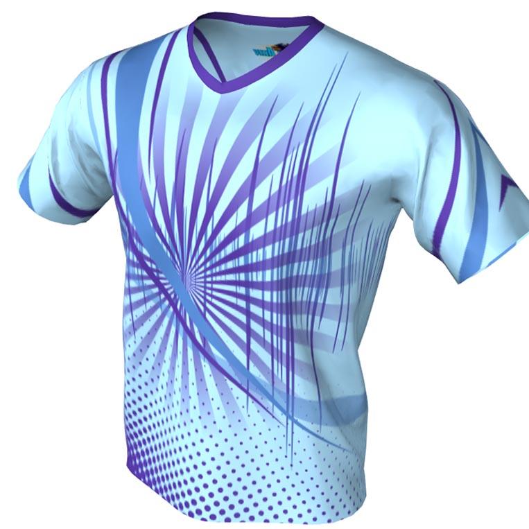 Sttar fighter pattern - v neck - bowling Jersey