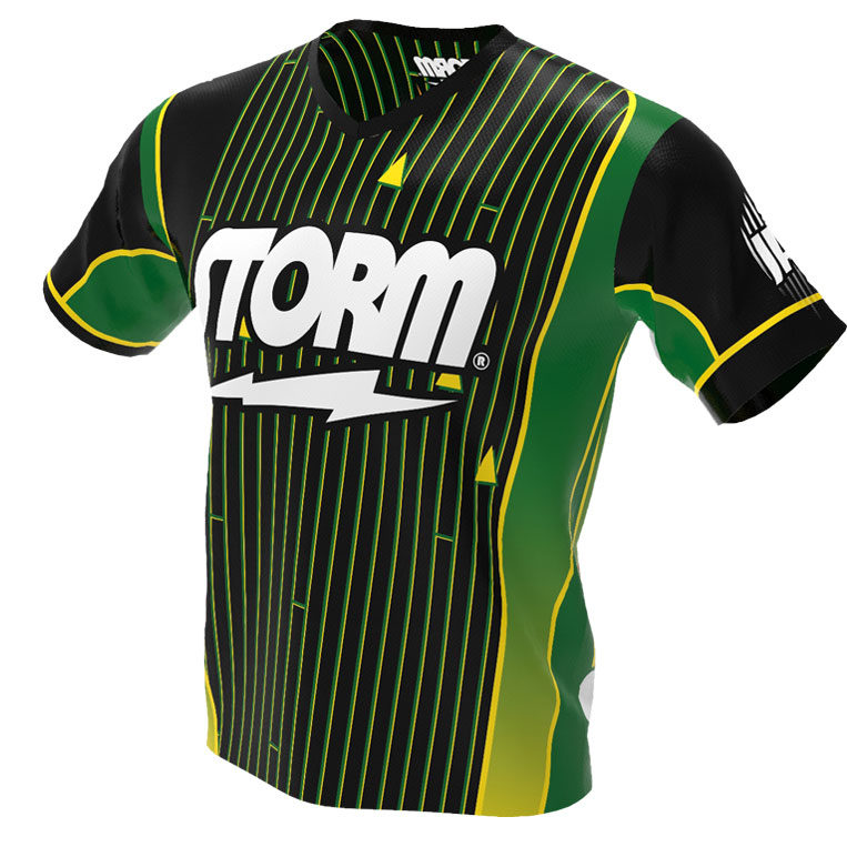 Green Storm Direct Hit Bowling Jersey Front