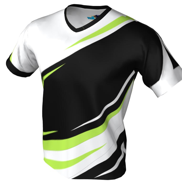 spin zone pattern - v neck bowling jersey