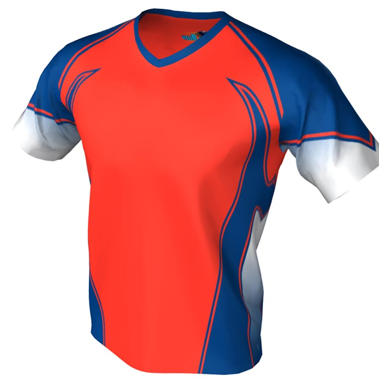 fire and ice pattern - v neck bowling jersey