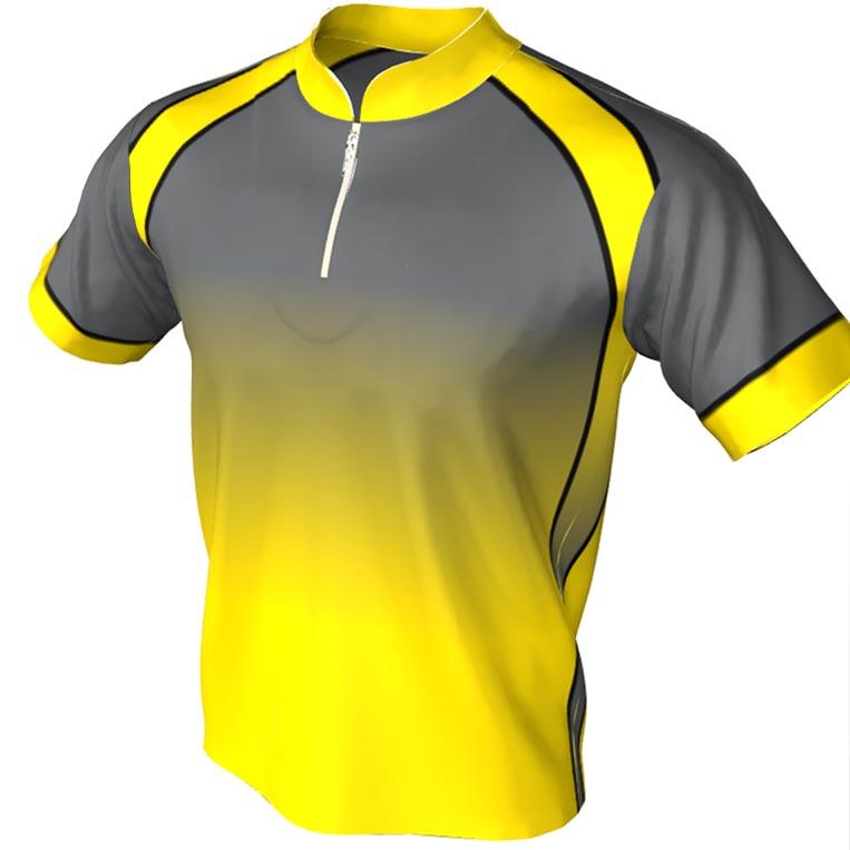 Yellow and black - mandarin zip jersey design
