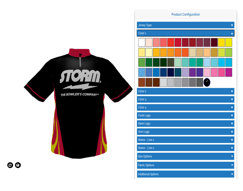 Interactive Jersey Builder - Customized Jersey