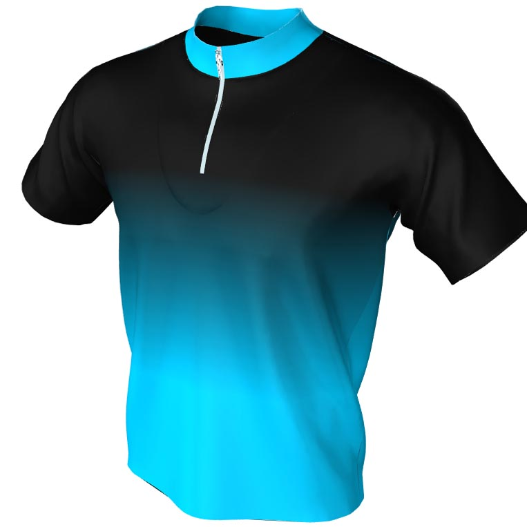 black and blue fade - bowling jersey