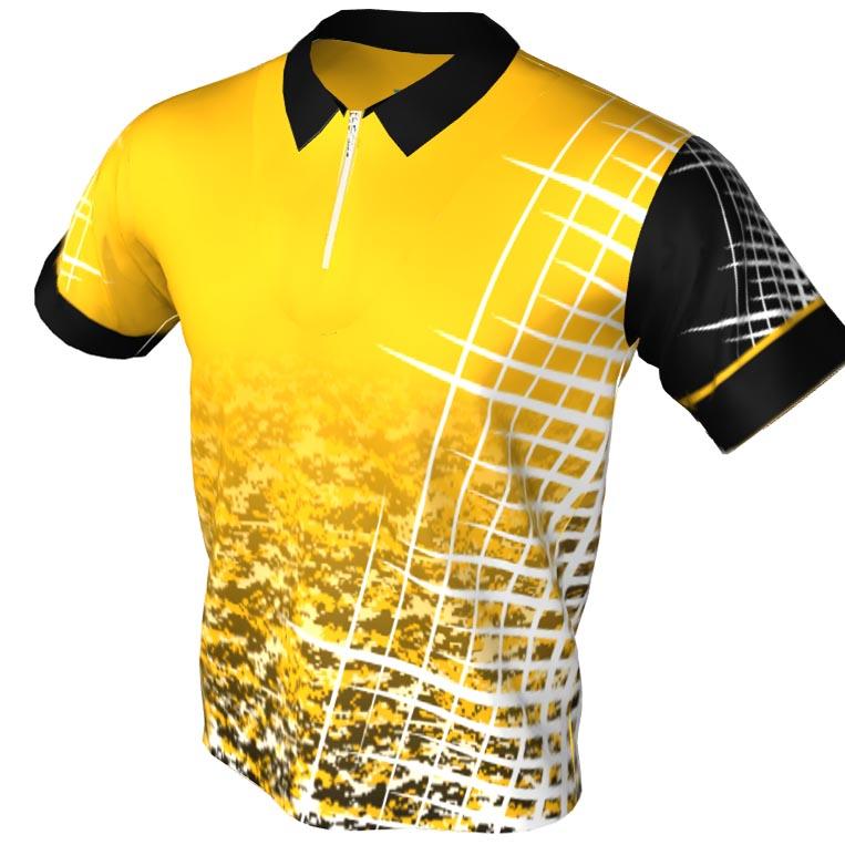 perfect game pattern - polo zip bowling jersey