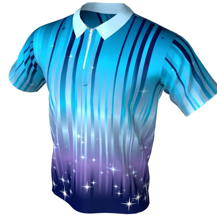 starlite pattern - polo zip bowling jersey