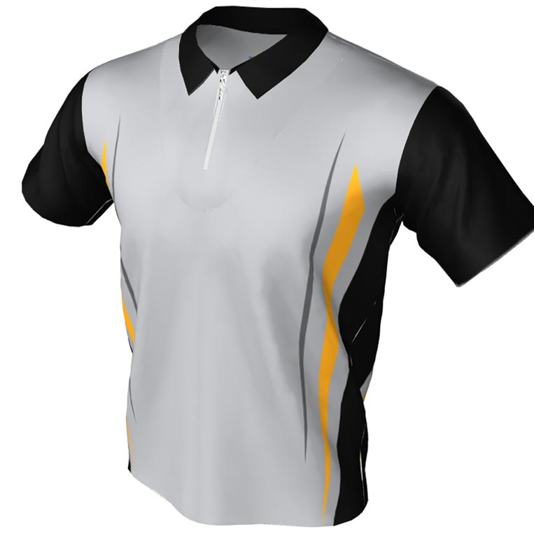 straight lines pattern - polo zip bowling jersey
