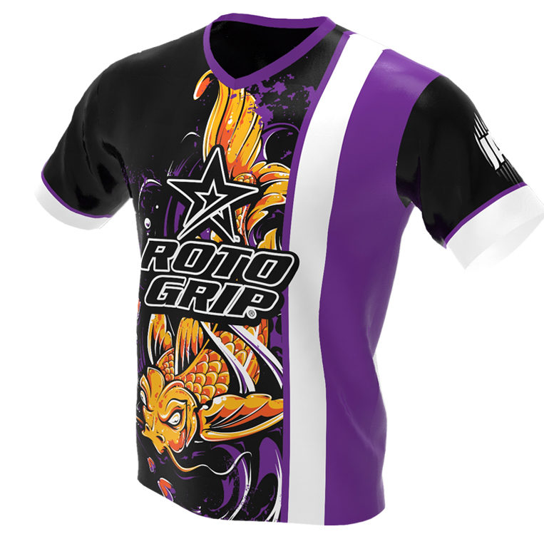 jersey alley - koi fish - roto grip bowling jersey - front