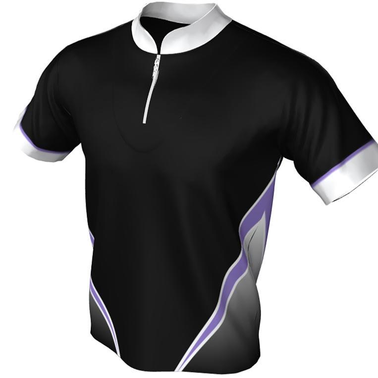 third arrow - mandarin zip bowling jersey