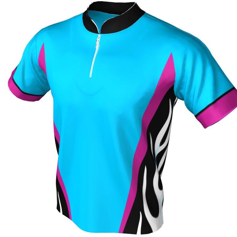 tribal under arm pattern - mandarin zip jersey