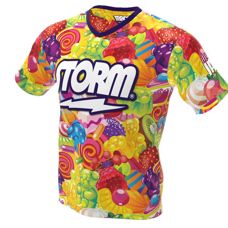 too sweet candy bowling jersey front
